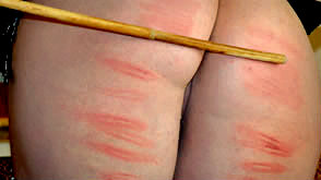 Zoe Montana is given a cold caning