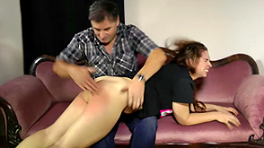 Severe caning punishment