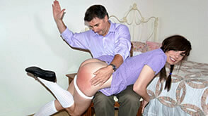 spanked over daddy's lap