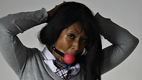 ball gagged schoolgirl Dani Hunt