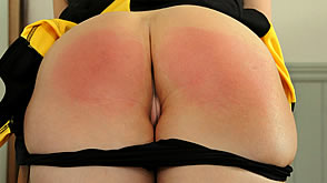 Leandra's bare bottom gets a punishment