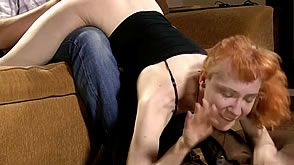 Meloday takes a spanking in the wheelbarrow position