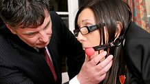 Sophie is ballgagged and spanked