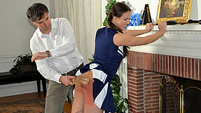 Casey Calvert gets spanked and punished
