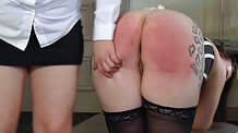 Red sore spanked bottom